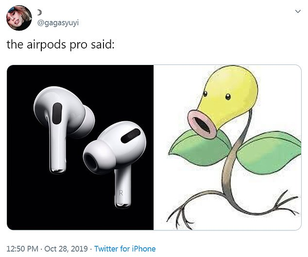 Apple's AirPods Pro have sparked a series of memes on the internet in just hours of being unveiled to the public -- with many fans saying they they resemble the Pokémon Bellsprout
