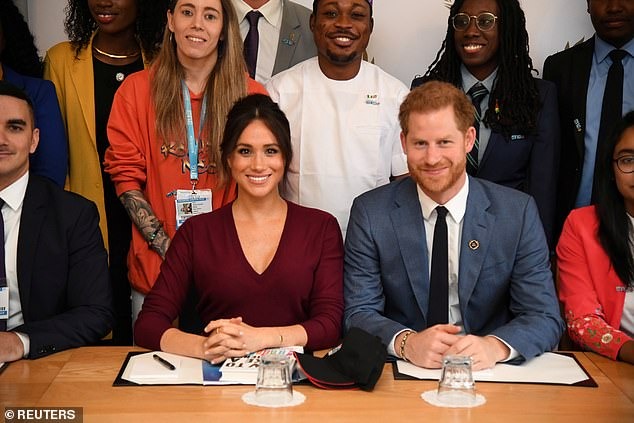 During a one-on-one interview in the documentary Meghan and Harry: An African Journey, the mother-of-one (pictured with Prince Harry) admitted to feeling vulnerable