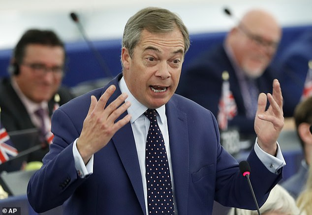 20404044 0 image a 30 1572482056404 - Brexit Party leader urges Johnson to drop 'sell-out' deal before election