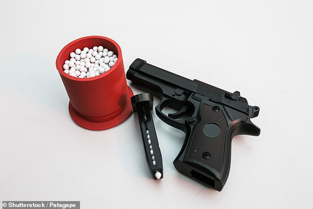 A young student has terrified a school by shooting other students with a BB gun (stock image pictured)