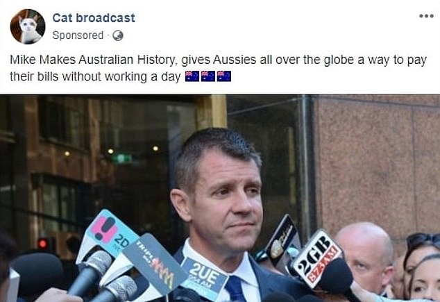 The fake advertisements also used images of former NSW premier Mike Baird (pictured) and attributes major Australian media brands, the ABC reported
