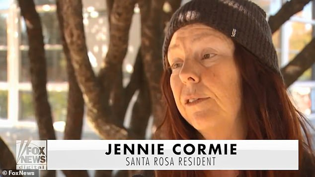 'They're taking advantage knowing that first responders, police, everyone is so busy. It's very disheartening,' Santa Rosa resident Jennie Cormie, who is staying at a local shelter, said