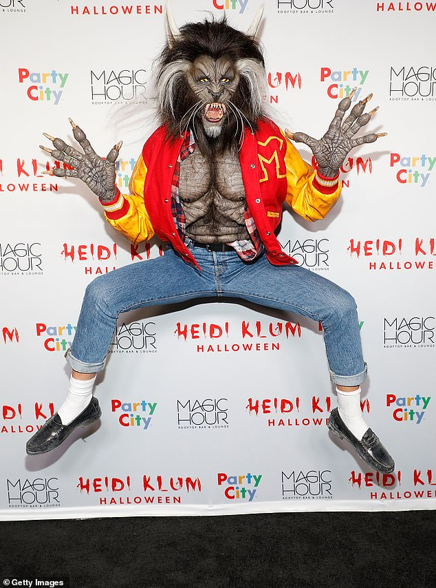 Spooky: Heidi does a daring pose while at the Magic House Rooftop bar and lounge back in 2017