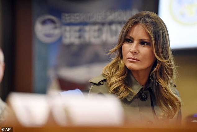 President Donald Trump joked at a closed fundraiser this week that First Lady Melania Trump might not be beside herself if he were to be seriously harmed