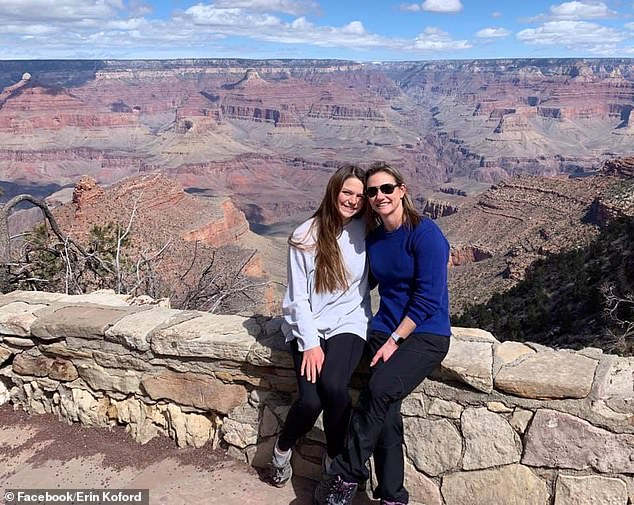 Emily (left) and Erin (right) are seen here in a picture dated March 2019 at the Grand Canyon
