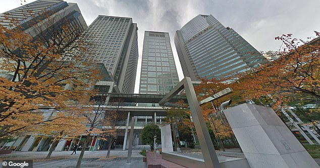 Employees also took 25.4 percent fewer days off during the month and used 23.1 percent less electricity in the office which saved the company money. Pictured: Japan Microsoft HQ