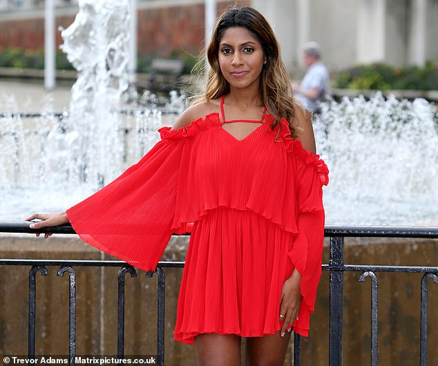 Myah Jagjivan, 22, had to go to hospital after her leg started blistering and 'ballooning' following the treatment which caused second degree burns