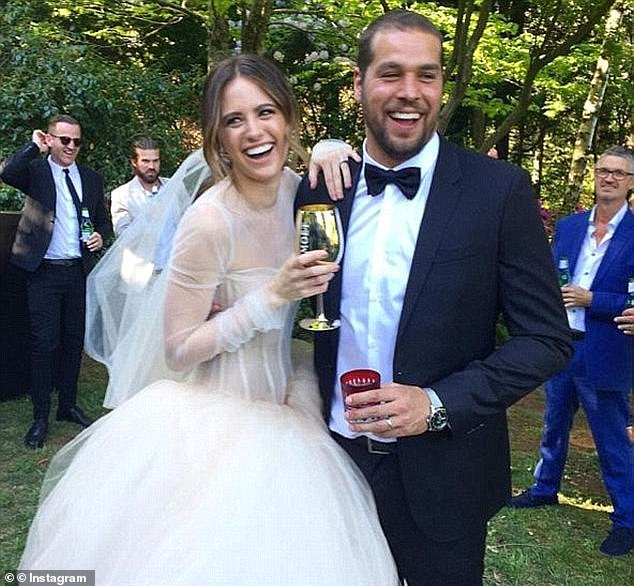 Marriage: Jesinta wore two custom-made Vera Wang gowns when she wed Buddy in 2016 during an intimate ceremony in the Blue Mountains, New South Wales, Australia
