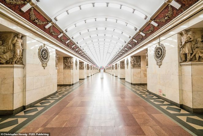 Narvskaya station in St Petersburg was originally meant to be named Stalinskaya after the former dictator Joseph Stalin, but when he died it was swiftly renamed Narvskaya after the Narva Triumphal Gate, located opposite the station's entrance. In spite of the name change, the station still contains a large number of decorative elements relating to Stalin