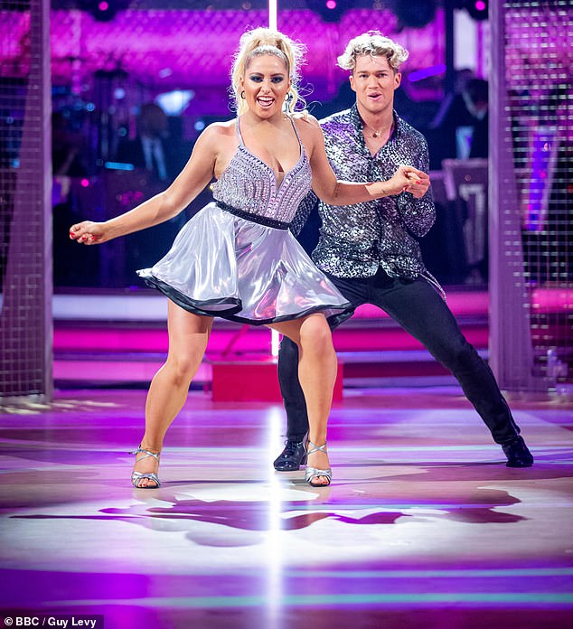 Safety first:Strictly's Saffron Barker has explained why she didn't wear a poppy during her Salsa routine with partner AJ Pritchard on Saturday's edition of the BBC series