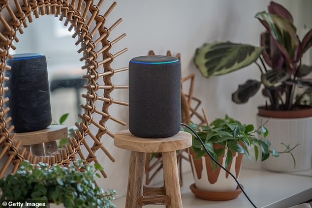 A number of voice activated smart devices, including Amazon Echo (pictured above), can be hacked using targeted lasers to simulate human voice commands