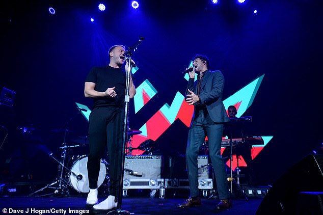 Energetic: Both Niall and Olly performed together as they melodically roared into their microphones