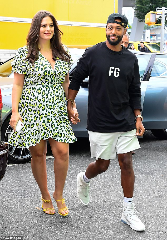 Love birds: Ashley and Justin step out shortly after announcing their pregnancy while out in New York for fashion week