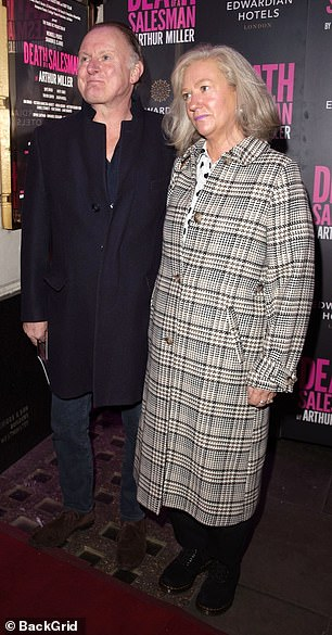 Couple: Celia and Robert Glenister arrived arm-in-arm to the star-studded event