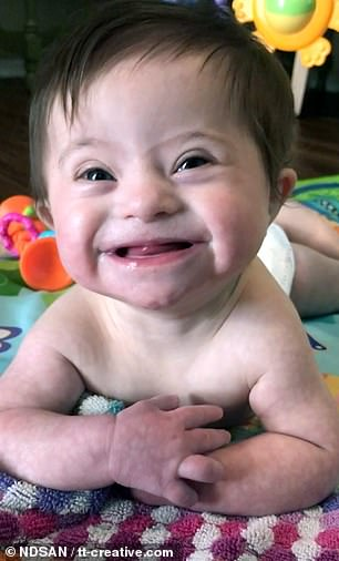 The adorable clip shows the youngster's mother asking the baby how her day is going and she replies with a cheesy grin
