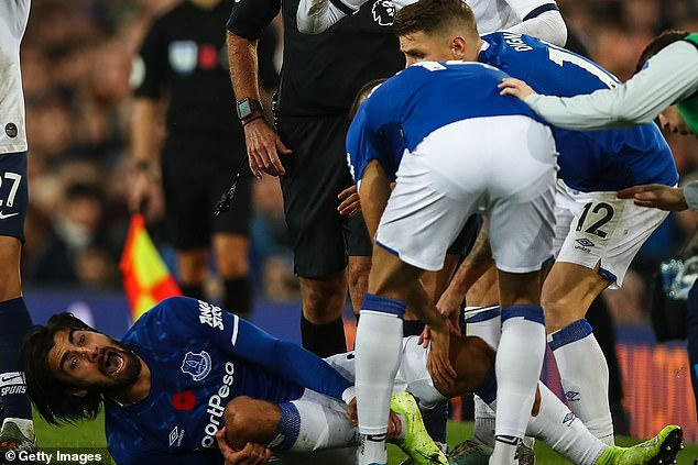 Gomes was left with a fractured dislocation of his right ankle in the game against Tottenham