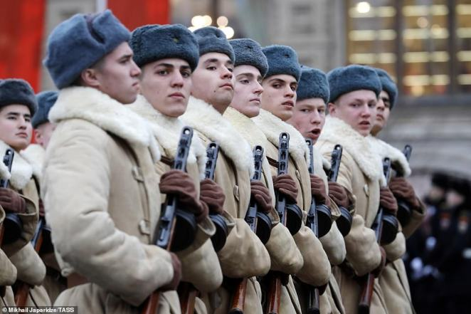 Held at the famous square, it features soldiers, cadets, members of various patriotic organizations and military equipment, including the famous Katyusha multiple rocket launchers and the T-34 tanks