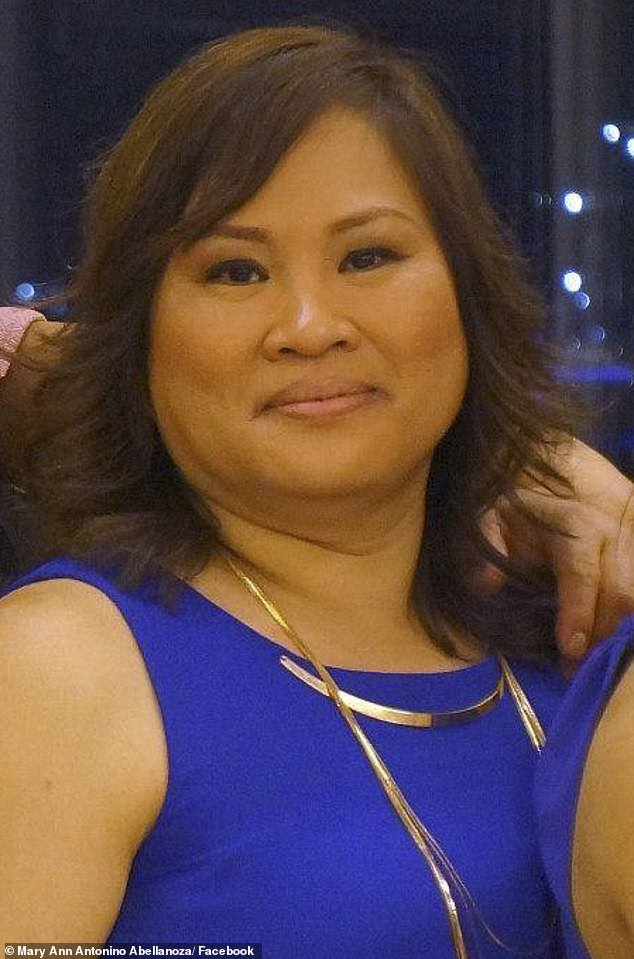 Mary Ann Abellanoza (pictured), 53, has been sentenced to at least five years in prison after she embezzled $3.7million from her former employers
