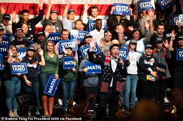 Democratic candidate Andrew Yang also rallied in Virginia in advance of the state's Tuesday election. Democrats are hoping to push the state House and Senate blue. Both are narrowly in Republican hands now