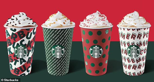Ho ho holiday time! Starbucks has unveiled four festive cup designs for 2019