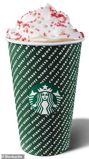 Funky: The new designs feature a more modern and graphic take on the traditional Christmas colors, and a few include funky 3-D style wording on them