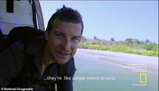 Superhero: 'She may be a superhero but these islands are unforgiving, no second takes here,' Grylls says