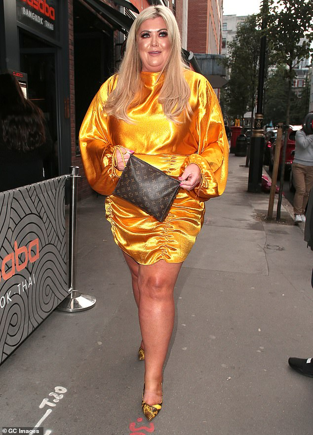 Making amends:TOWIE star Gemma, 38, (pictured in July) dumped Arg, 31, last month after he refused rehab and said their on-off relationship was over until he beat his addiction