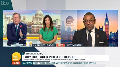 Piers Morgan accused the Tories of creating a 're-edited version, a mash-up which you did yourselves, which completely changed the context'