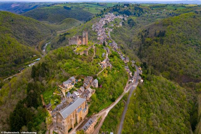 Najac, in the Aveyron department in southern France, sits at 1,115ft amid wild gorges, with the 12th-century fortress the dominating feature