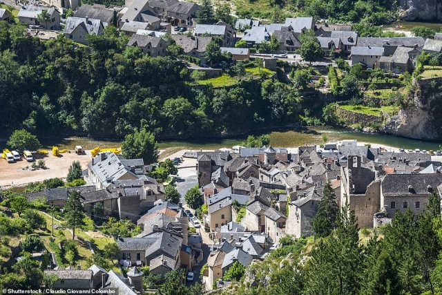 Nestled amid the Tarn Gorges, encircled by cliffs, is the cute-as-a-button Sainte-Enimie. There are half-timbered workshops and houses aplenty, plus a Romanesque church and the Burle river, which the book says has healing properties