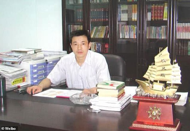Chinese triad leader Chen Hongzhi (pictured) was sentenced to death with a two-year reprieve by the Intermediate People's Court of Changzhi in Shanxi Province on Wednesday