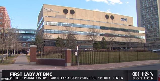 It's rare for a first lady to be greeted with protesters as employees at Boston Medical Center plan to greet Melania Trump