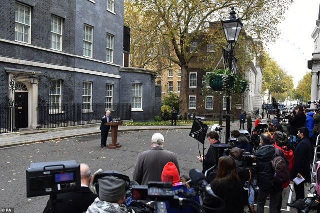 Mr Johnson said the public must decide whether they wanted a Tory government that would cut ties with the EU and invest in public services, or Jeremy Corbyn's hard-Left 'horror show'.