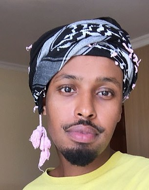 In 2009, Omar married Elmi (pictured), a British citizen, just two weeks after he entered the United States. He has been identified as her brother by many media outlets, though due to a lack of records in their war-torn country of birth that has not been proven