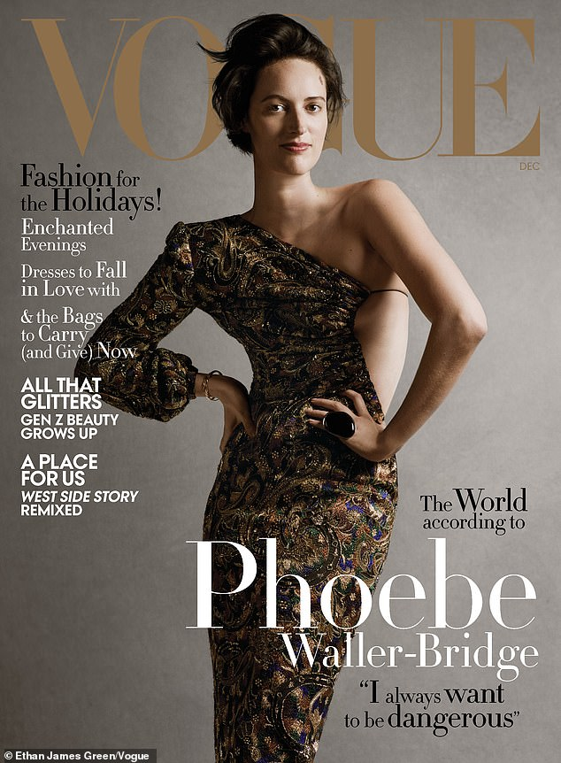 An iconic moment: Miss Waller-Bridge looks incredible as she graces the front cover of US Vogue