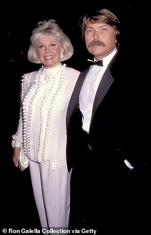Son: Doris pictured with her only son, the late Terry Melcher in 1989