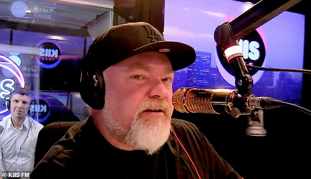 Back in the saddle: Kyle Sandilands returned to the airwaveson Thursday after taking the day off following the announcement he had split from girlfriend Imogen Anthony