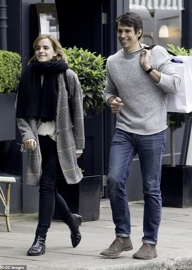 Emma Watson out with then-boyfriend William Mack Knight in London in June 2016