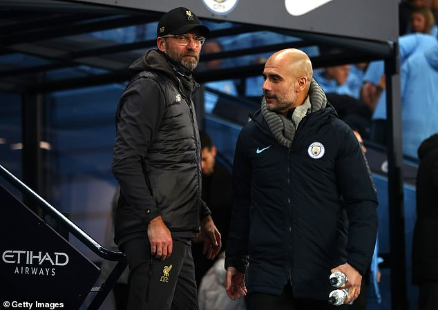 Jürgen Klopp (left) and Pep Guardiola (right) meet on Sunday in Anfield