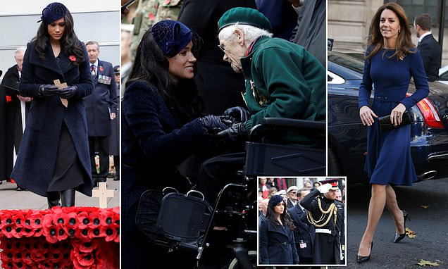 Harry and Meghan visit the Westminster Abbey 'Field of Remembrance'