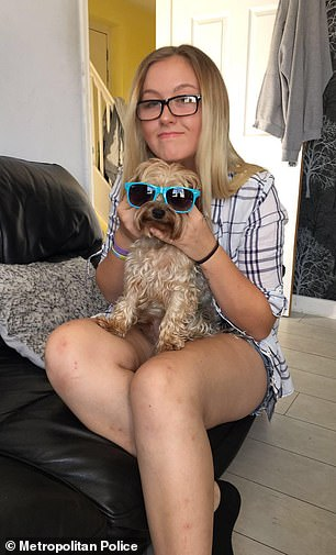Jodie, pictured with her dog and before her school prom in photos released by her family