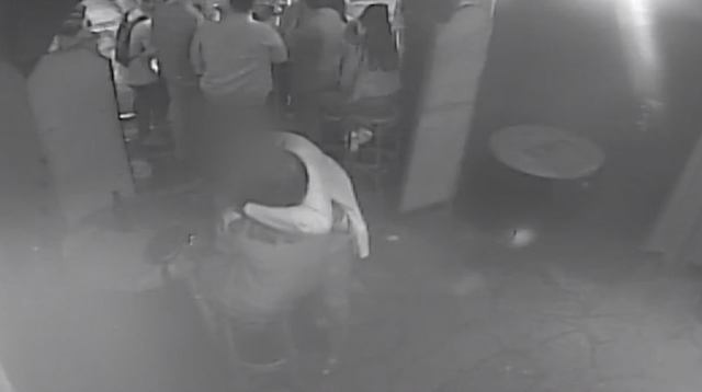 8.45pm: Three hours after their first meeting Miss Millane and the defendant are shown kissing repeatedly in Auckland's Bluestone Bar, where her killer was drinking before the date