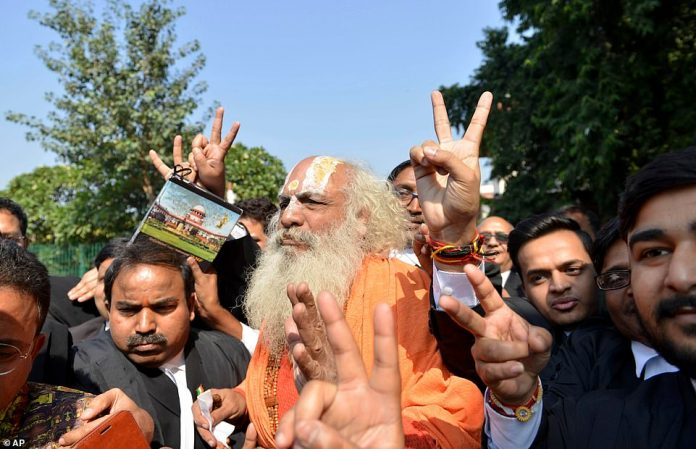 The Rashtriya Swayamsevak Sangh - the mother organization of Modi's party - is pronounced against the celebration processions if the verdict is favorable to Hindus, in order to avoid provoking sectarian violence