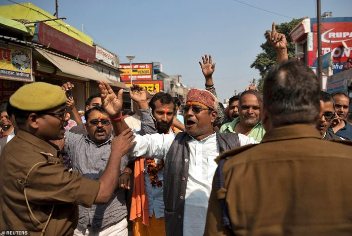 For more than seven decades, Hindu far right activists have been trying to build a temple on the site, which they believe to be the birthplace of Lord Ram, a physical incarnation of the Hindu god Vishnu.