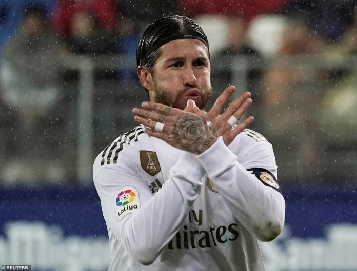 Sergio Ramos scored Real Madrid's second goal of the game and his third penalty in the last four games in all competitions