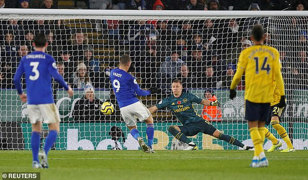 Vardy showed his lethal instinct in front of goal by tapping in the opener for the Foxes