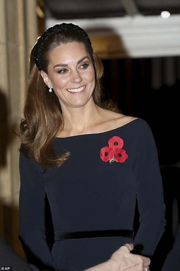 Kate Middleton mixed high street with designer as she arrived at the Royal Albert Hall for the annual Festival of Remembrance on Saturday evening