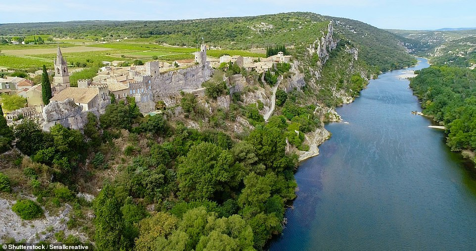 Perched on a cliff over the Gorges of the Ardeche, near Avignon, is the village of Aigueze. The locals, known as Aiguezois, are known for their friendliness and sense of humour