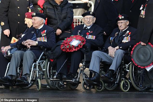 Veterans were present in London today