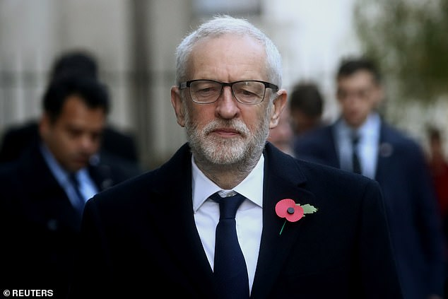 Jeremy Corbyn, pictured this morning in London, is a long-standing opponent of the UK's Trident nuclear deterrent